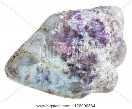 Lepidolite Mica And Tourmaline Crystals On Quartz