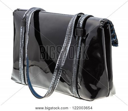 Back View Of Purse From Black Patent Leather