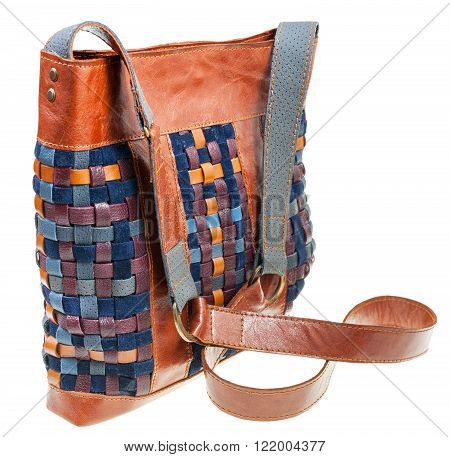 Cross-body Bag From Intertwined Leather Strips