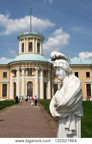 Moscow Region, Russia - July 12, 2009: Sculptures In Museum-estate Arkhangelskoye (18Th Century) Loc