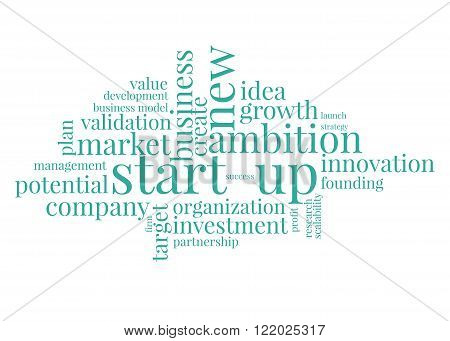 Start-up concept tags