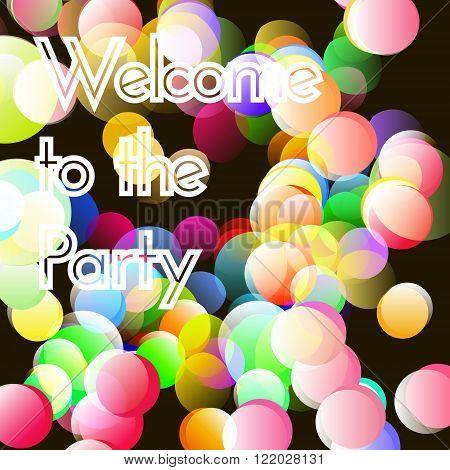 Vector bokeh party