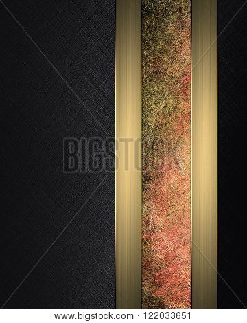Black Background With A Reddish Stripe. Element For Design. Template For Design. Copy Space For Ad B