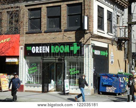 VANCOUVER, BC, CANADA, MARCH 16, 2016.  A Medical Marijuana dispensary treats patients with legal marijuana.