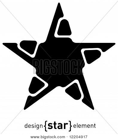 Abstract Design Element Star, Illustration