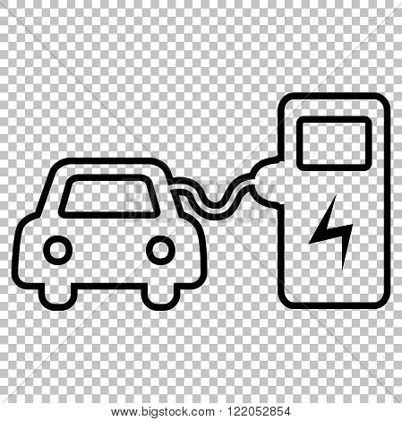 Electrocar battery charging sign