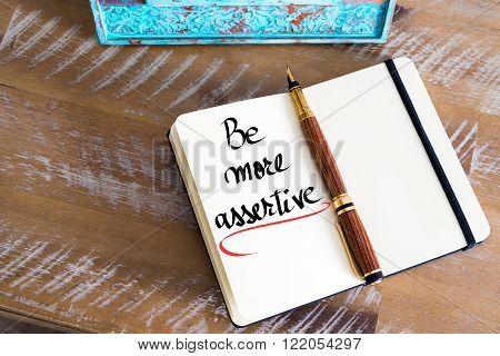 Written Text Be More Assertive