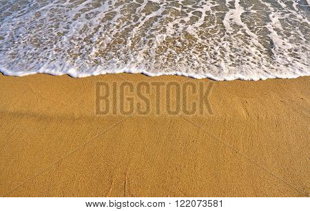 View of the sand beach of the Mediterranean sea