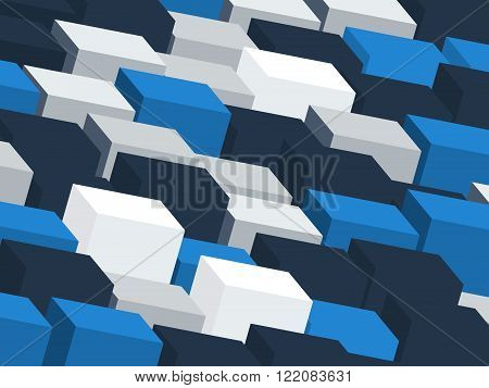 Contrast background with grey and blue cubes