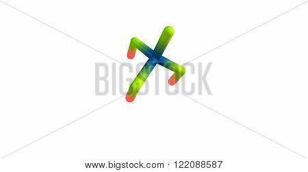Phosphoric acid or orthophosphoric acid is a mineral acid having the chemical formula H3PO4. 3D illustration.