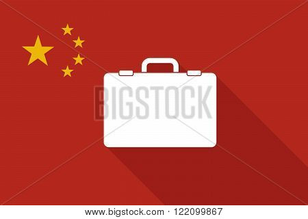 China Long Shadow Flag With  A Breiefcase
