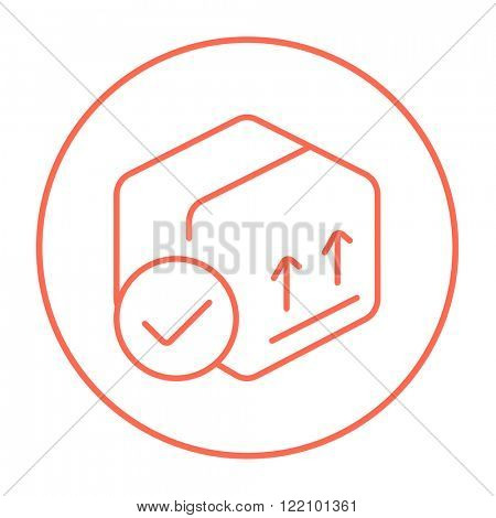 Carton package box line icon. poster