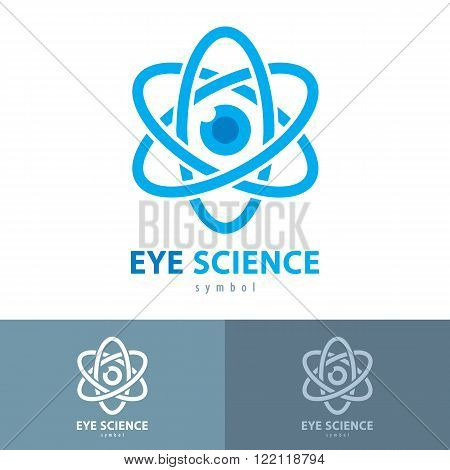 Cyber eye science symbol icon. Vector illustration Logo template design