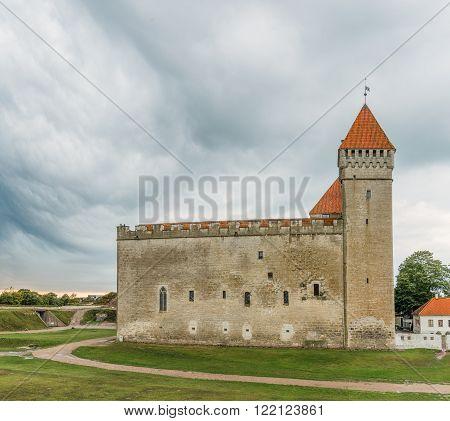 Medieval Kuressaare Castle On the Island  of Saarema, Estonia