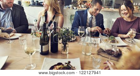 Business People Lunch Dinner Meeting Restaurant Concept