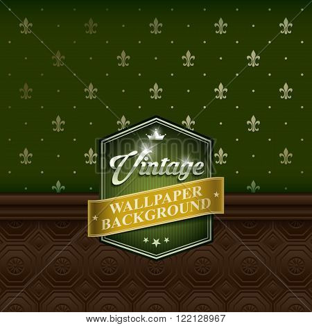 Retro background wallpaper with wood panel. Vector EPS10.