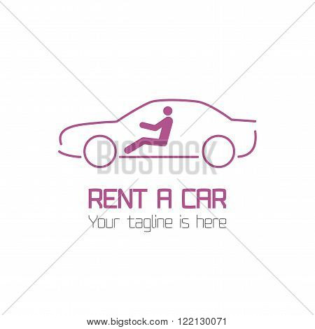 Vector template of car rental company logo, rent-a-car. Automotive logo vector template design
