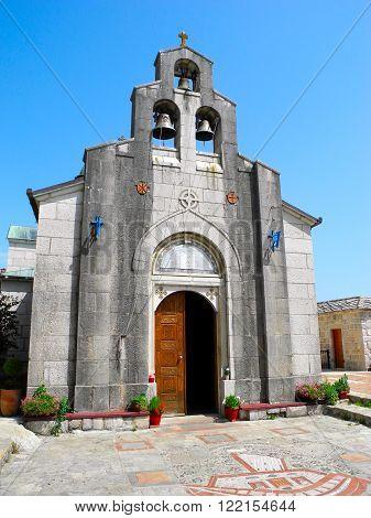 Serbian Orthodox monastery near the city of Trebinje Republika Srpska Bosnia and Herzegovina. poster