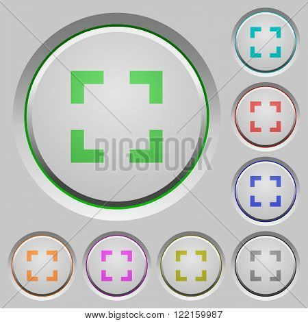 Set of color selector tool sunk push buttons.