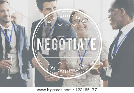 Negotiate Collaboration Business Agreement Deal Concept