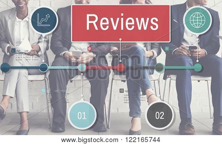 Reviews Report Evaluation Assessment Inspection Examine Concept