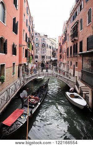 Gondola With Tourists