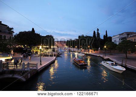 Night View Of Venetian Life
