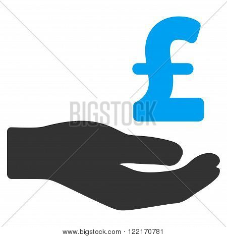 Pound Donation vector icon. Pound Donation icon symbol. Pound Donation icon image. Pound Donation icon picture. Pound Donation pictogram. Flat pound donation icon.