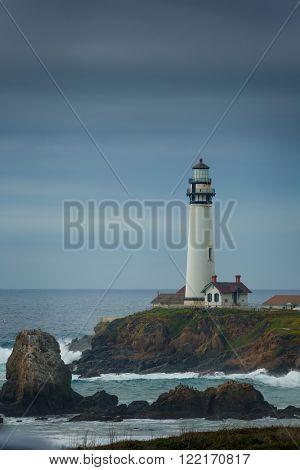 Pidgeon Point Lighthouse in California.