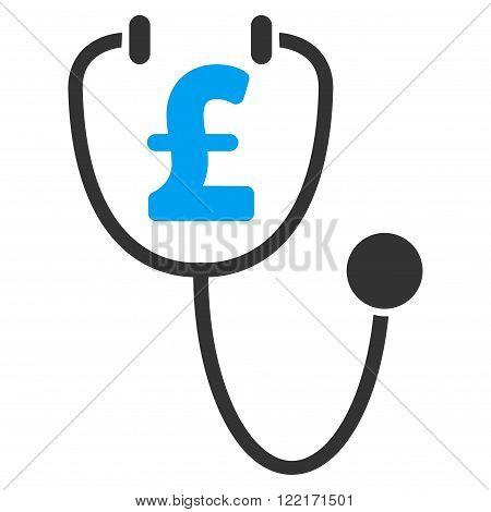 Pound Health vector icon. Pound Health icon symbol. Pound Health icon image. Pound Health icon picture. Pound Health pictogram. Flat pound health icon. Isolated pound health icon graphic. poster