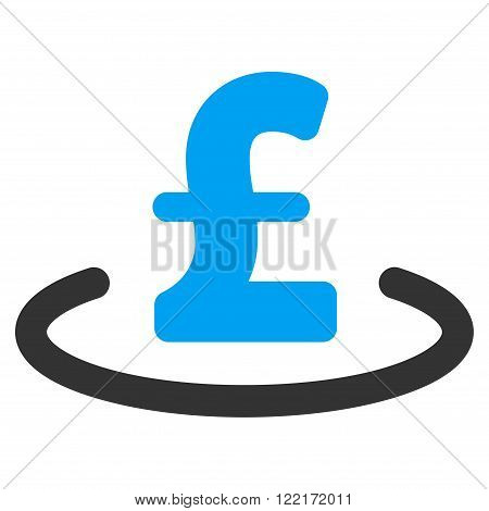 Pound Location vector icon. Pound Location icon symbol. Pound Location icon image. Pound Location icon picture. Pound Location pictogram. Flat pound location icon.
