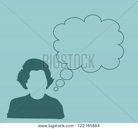 Margaret Thatcher Stylized Simple Flat Style Portrait. Bubble speech with quote