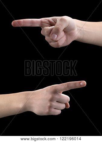 Gestures of hands,