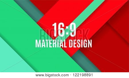 Background Unusual Modern Material Design. Format 16:9 . Vector Illustration.