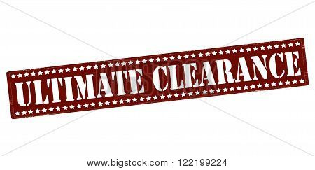 Rubber stamp with text ultimate clearance inside vector illustration
