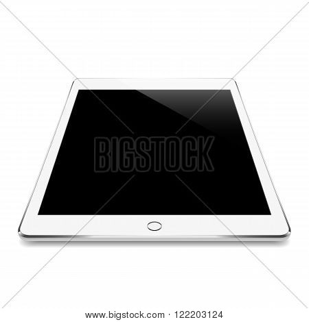 mock up white tablet like in ipades style isolated on white vector design