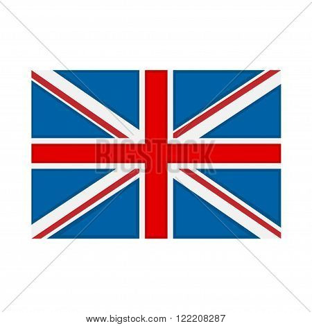 Great Britain flag on white background. Vector illustration