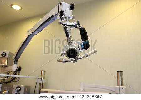 Professional EVO ENT Medical Devices Workstation. Ear Nose and Throat Medical examination mobile moving light crane equipment.