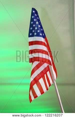 United States Of America Flag As A Colorful Background