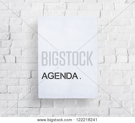 Agenda Design Brick Banner Concept