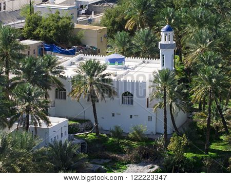 The mosque in village Bilad Sayt sultanate Oman