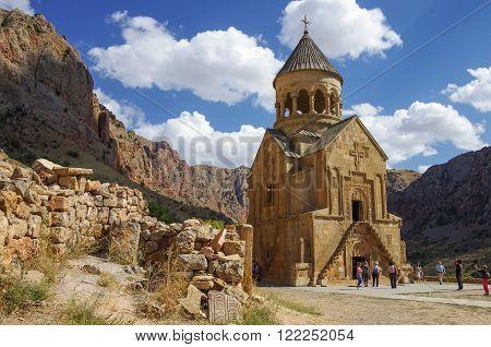 Medieval Noravank Monastery Complex In Amaghu Valley, Armenia
