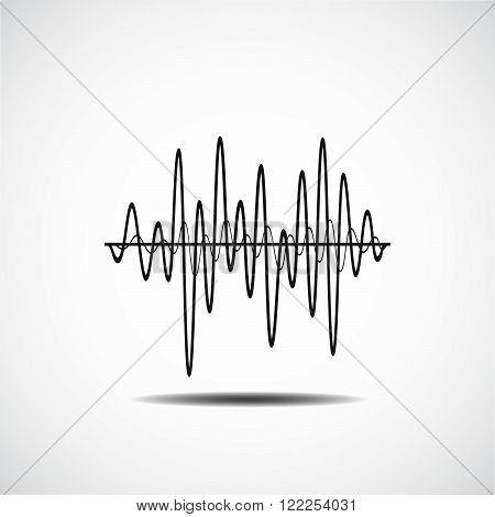 Sound Wave Icon. Music Soundwave Icons Set. Equalize Audio And Stereo Sound, Wave, Melody. Vector Il