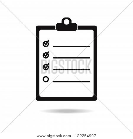 Check list icon. Stock vector. Vector illustration.