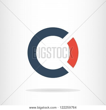 Letter C and O logo template. Business logo template. CO logo. CO silhouette