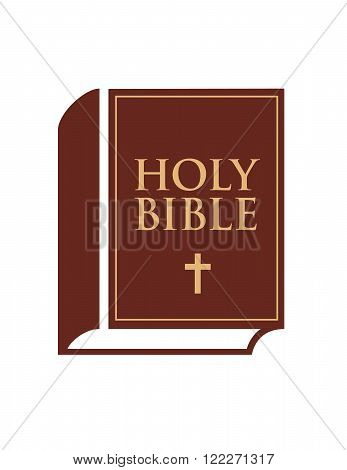 Vector illustration of the holy bible in colour