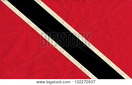 Vector image of the Trinidad and Tobago  paper  flag