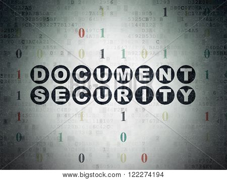 Safety concept: Document Security on Digital Paper background