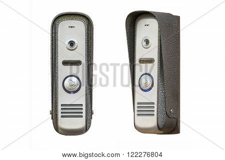 Intercom outside panel isolated on a white background