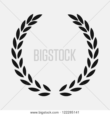 icon laurel wreath - vector illustration Black dark icon laurel